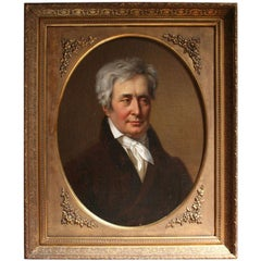 19th Century Oil Portrait Painting of a Count