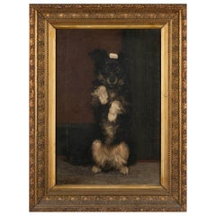 19th Century Oilpinting, Portrait of a Dog by César Geerinck