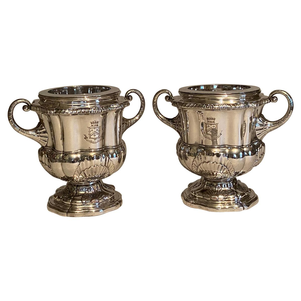 19th Century Old Sheffield Plate Wine Coolers