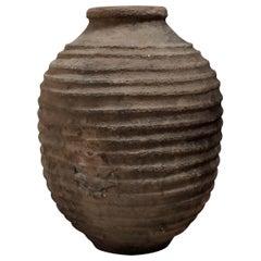 19th Century Olive Pot, Spain, Antique Olive Pot, Garden object, terracotta