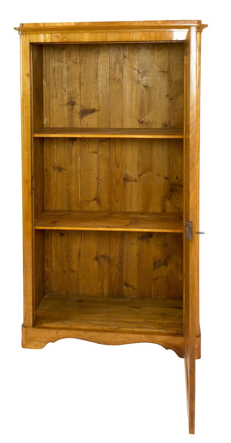 German 19th Century One-Door Biedermeier Cherry Cabinet / Wardrobe For Sale