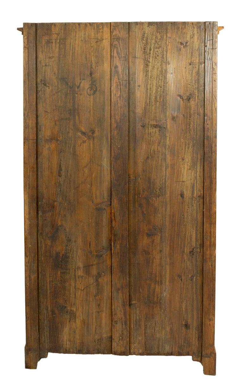 19th Century One-Door Biedermeier Cherry Cabinet / Wardrobe In Good Condition For Sale In Darmstadt, DE