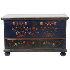19th Century One Drawer Painted Blanket Chest