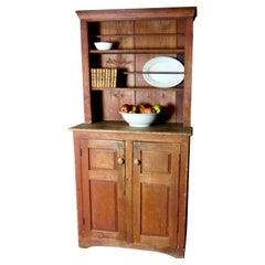 19th Century Open Pine Dish Cupboard