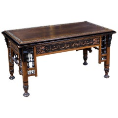 19th Century, Oriental Couch Table with Inlaid Marakesch, circa 1900