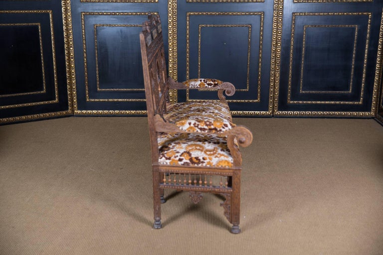 Hand-Carved 19th Century, Oriental Seat Group with Inlays Marakesch, circa 1900