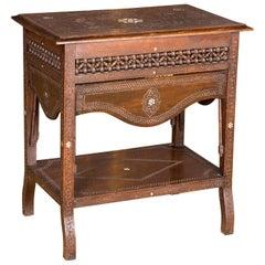 19th Century, Oriental Table with Inlaid Marakesch, circa 1900