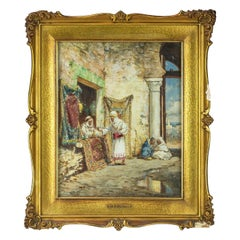 Original French Orientalist Painting of a Sword Merchant by Addison Millar