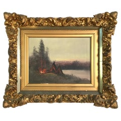 19th Century Original American Hudson River Oil Painting