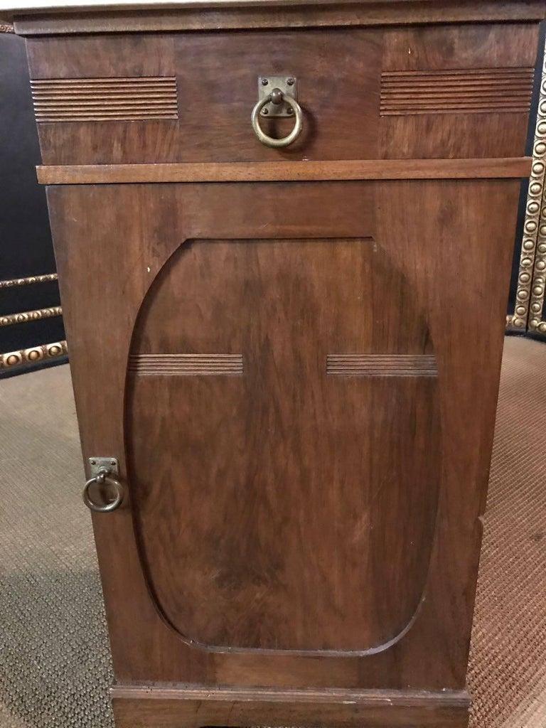 19th Century, Original Art Nouveau Commode Walnut For Sale 3