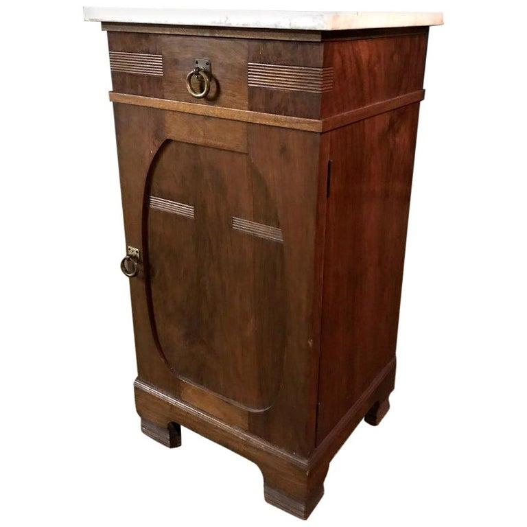 19th Century, Original Art Nouveau Commode Walnut For Sale