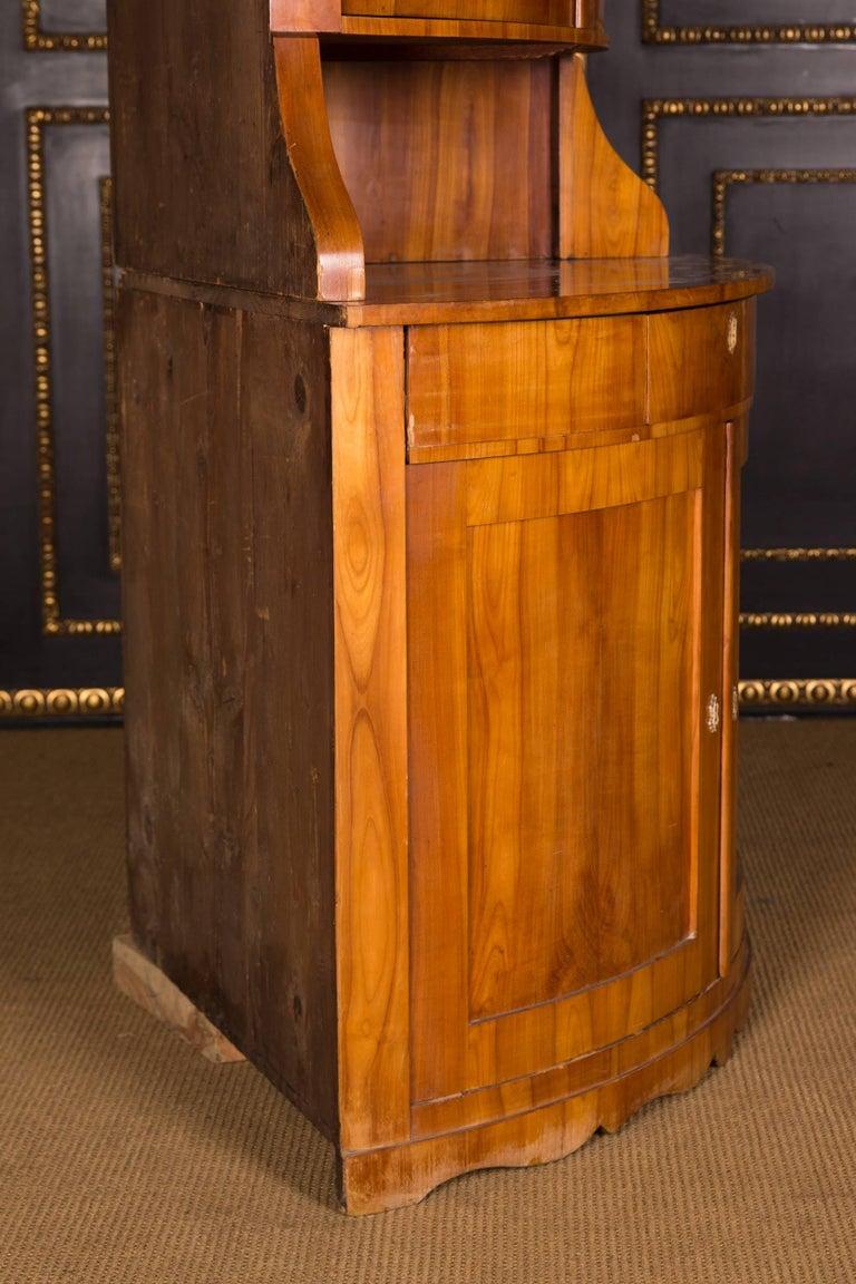 19th Century Original Biedermeier Corner Vitrine Cherry Veneer For Sale 5