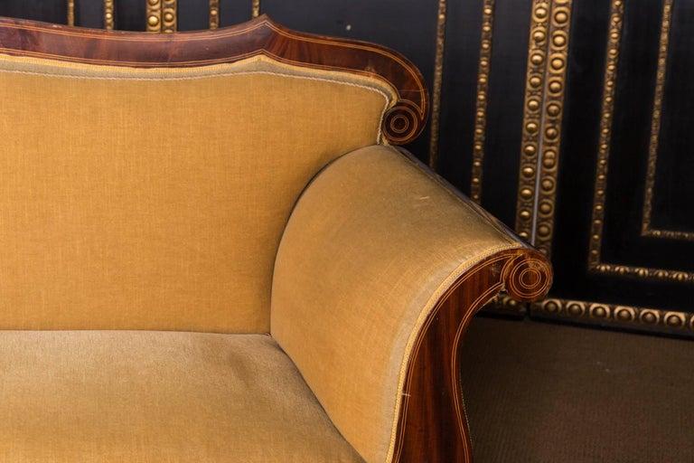 German 19th Century, Original Biedermeier Couch Mahogany Veneer For Sale