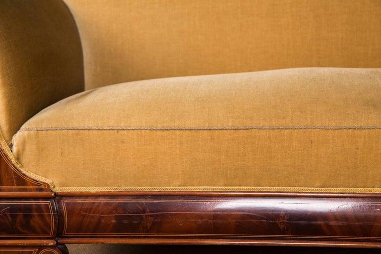 19th Century, Original Biedermeier Couch Mahogany Veneer For Sale 1