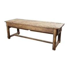 19th Century Original French Farmhouse Rectangular Dining Table or Console Table