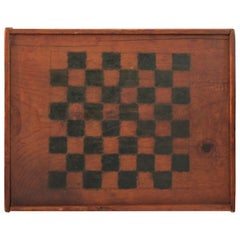 19th Century Original Painted and Signed Gameboard from Pennsylvania