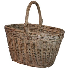 19th Century Original Painted Basket