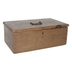 19th Century Original Painted Dovetailed Document  Box