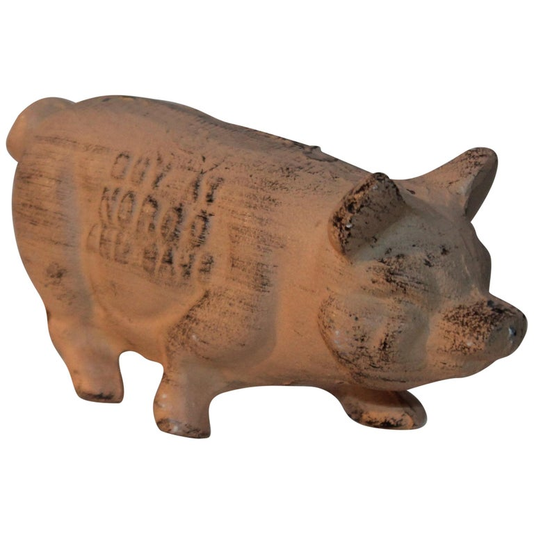 19th Century Original Painted Pig Norco Foundry For Sale