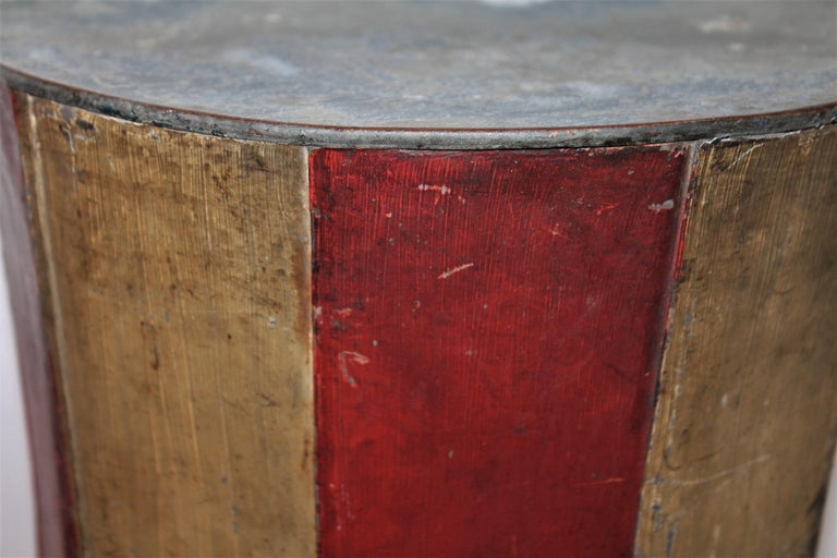 19th Century Original Painted Tin Large Trade Sign/Hat For Sale 4