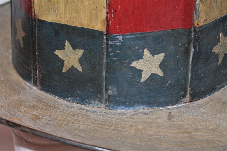 19th Century Original Painted Tin Large Trade Sign/Hat In Good Condition For Sale In Los Angeles, CA