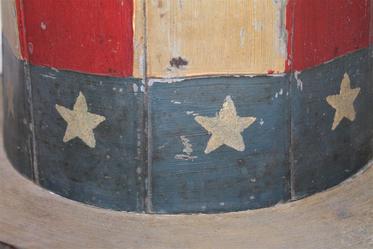 19th Century Original Painted Tin Large Trade Sign / Hat For Sale 1