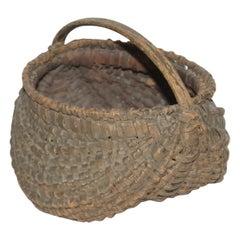 19th Century Original Sage Green Mini Hiney Basket