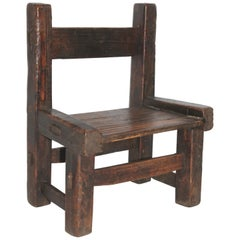 19th Century Original Surface Pueblo Child's Chair
