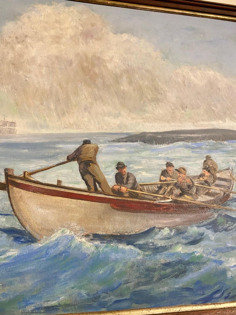 Other 19th Century Original Whaling Painting by Benjamin Russell, circa 1880 For Sale