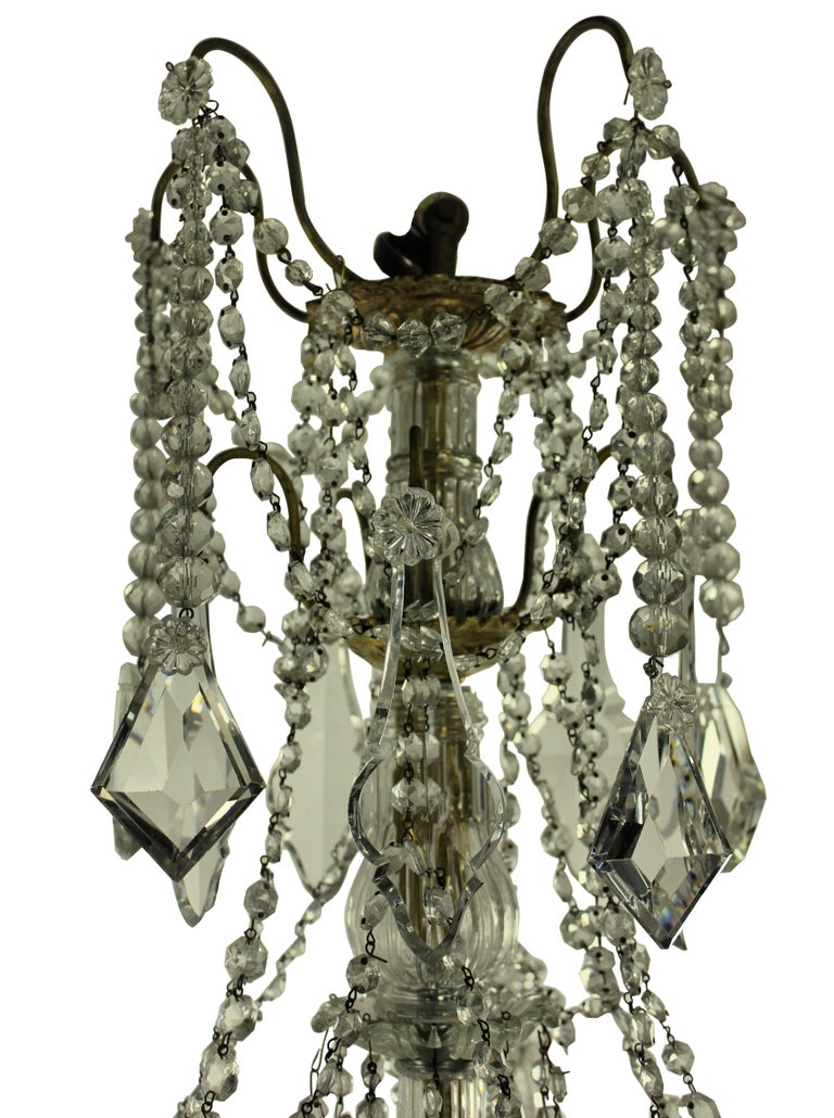 19th Century Ormolu and Cut-Glass Chandelier, Signed Baccarat In Good Condition In London, GB