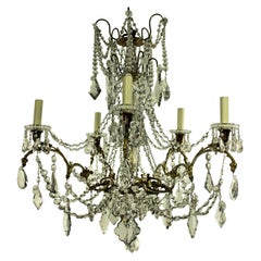 19th Century Ormolu and Cut-Glass Chandelier, Signed Baccarat