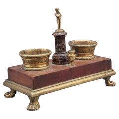 19th Century Ormolu and Mahogany Desk Set