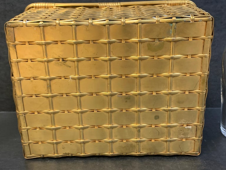 19th Century Ormolu Basketweave Tauntless, Attributed to Baccarat For Sale 6