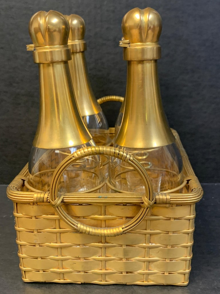 19th Century Ormolu Basketweave Tauntless, Attributed to Baccarat For Sale 2