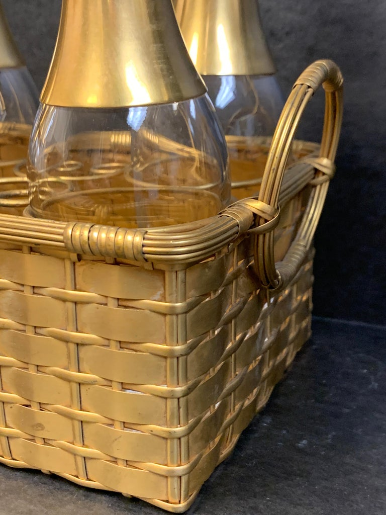 19th Century Ormolu Basketweave Tauntless, Attributed to Baccarat For Sale 3