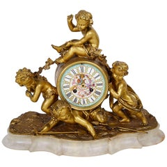 19th Century Ormolu Mantle Clock, Louis XVI Style
