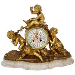 19th Century Ormolu Mantle Clock, Louis XVI Style