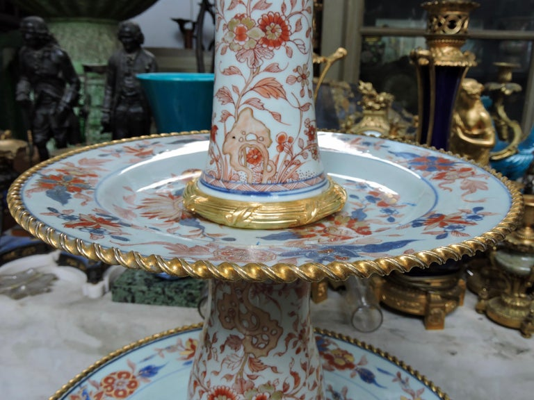 Late 19th Century 19th Century Ormolu-Mounted and 18th Century Chinese Porcelain Centrepiece For Sale