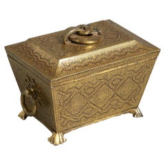19th Century Ornate Indian Koftgari Casket