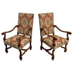 19th Century Os De Mouton Armchairs