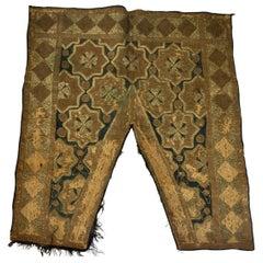 19th Century Ottoman Moorish Metallic Threads Embroidered Textile