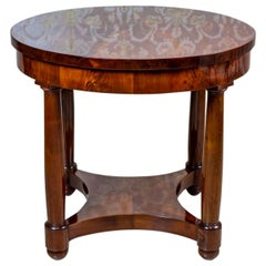 19th Century Oval Biedermeier Table