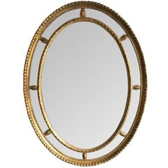 19th Century Oval Border Mirror