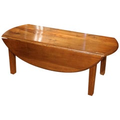 19th Century Oval Chestnut Wood Coffee Table