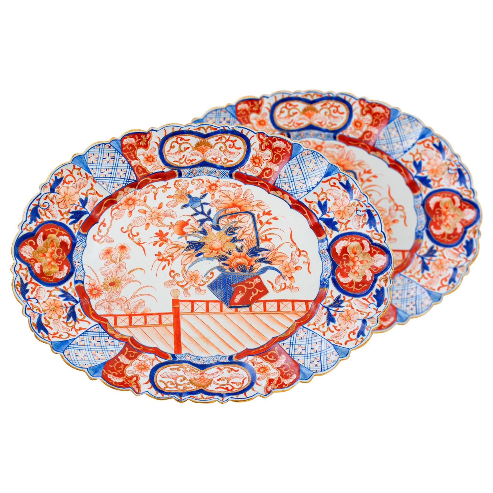 19th Century Oval Imari Platters