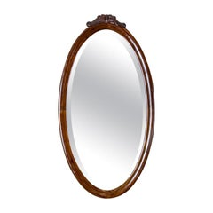 19th Century Oval Mirror in a Louis Philippe Frame