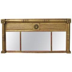 19th Century Over Mantel Mirror with Original Gilt