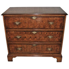 19th Century Oyster Walnut Butlers Chest