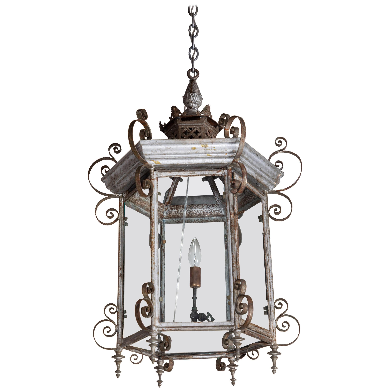 19th Century, Pagoda Style, Electrified Lantern