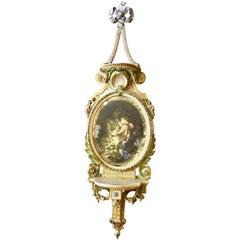 19th Century Paint Decorated Italian Mirror
